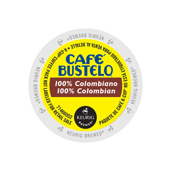 Cafe Bustelo 100% Colombian, Regular Keurig K-Cup 24 Count 32770085