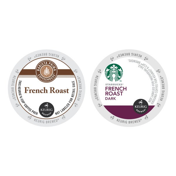 Barista Primahouse French Roast, Starbucks French Roast Coffee, Extra Dark and Bold, K-Cup Packs for Keurig Brewers 48 Count 32770125