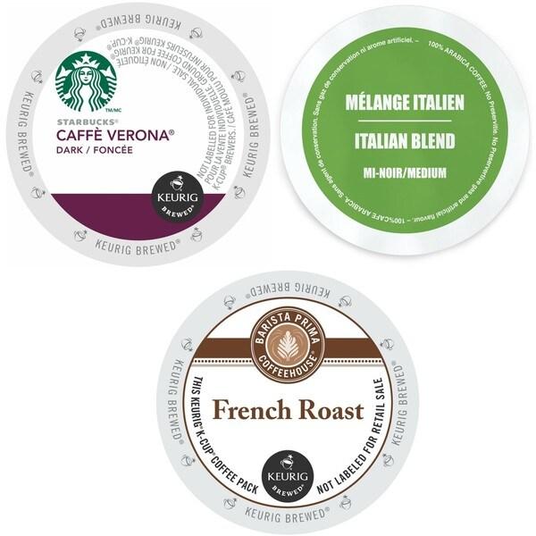 Starbucks Caffe Verona, Faro Italian, Barista Prima French & Lavazza Gran Selezione, Single Cups for K-Cup Brewers 96 Count 32770136