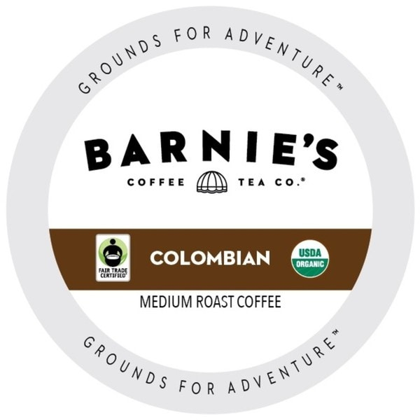 Barnie's Fairtrade Organic Colombian Dark Roast And Extra Bold Single Serve Coffee Cups for Keurig K-Cup Brewers 88 Count 32770151