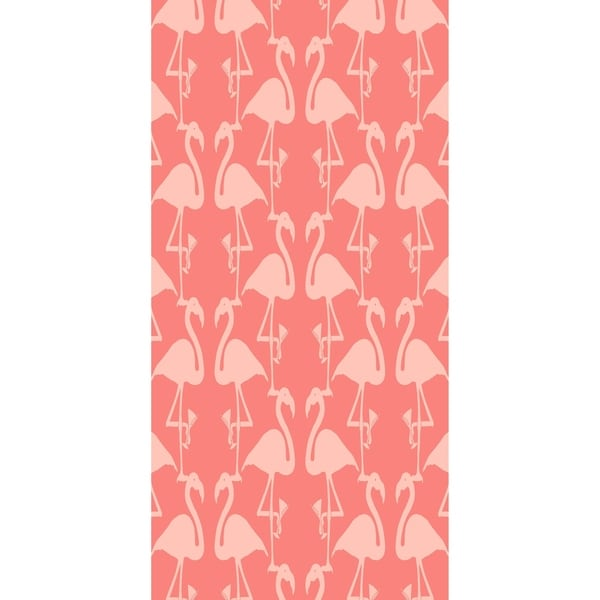28 x 58 inch Flamingo Heart Martini Animal Print Bath Towel 32770341