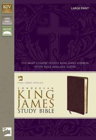 Zondervan Study Bible: King James Version, Burgundy Bonded Leather, Large Print (Paperback)