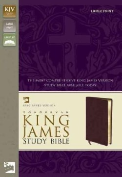 Zondervan Study Bible: King James Version, Burgundy Bonded Leather, Large Print (Paperback)