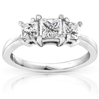Annello 14k Gold 1ct TDW Diamond Engagement Ring (H-I, SI1-SI2)