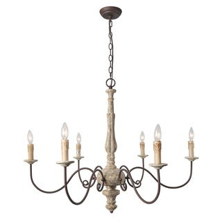 LNC 6-Light Country Chandelier Lighting Rustic Pendant Lights Chandeliers