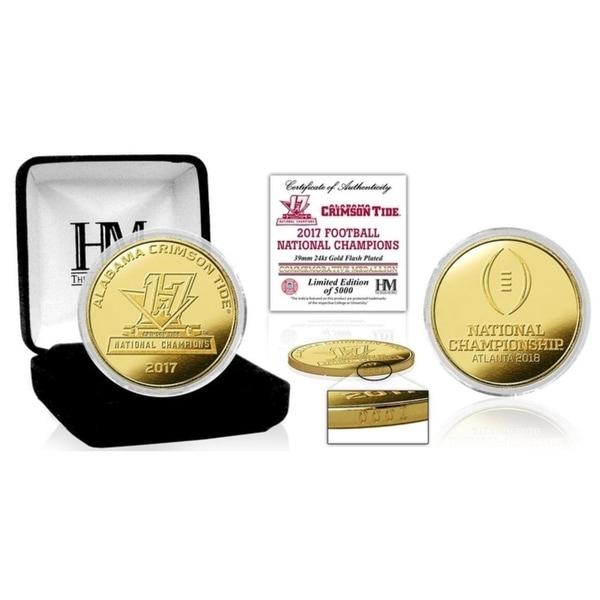 Alabama Crimson Tide 2017 Football National Champions Gold Mint Coin - Multi-color 32847906
