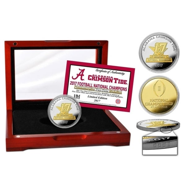 Alabama 2017 Football National Champs Two-Tone Mint Coin - Multi-color 32847930