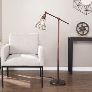 Carbon Loft Hart Industrial Swing Arm Floor Lamp