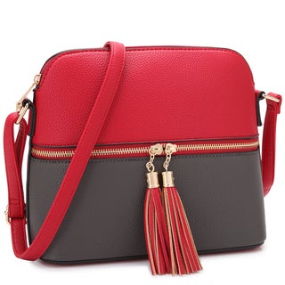 Dasein Women Fashion Crossbody Bag with Tassel
