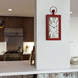 """Yosemite Home Décor """"Waverly Red"""" Wall Clock"""