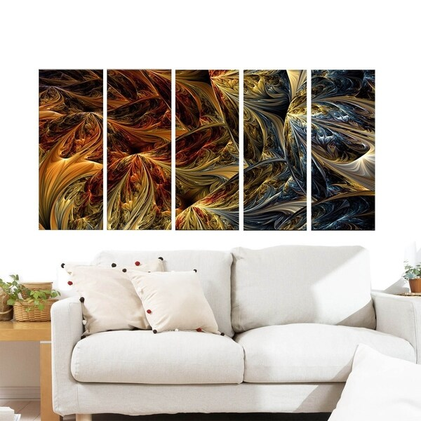 Large Abstract 'Red vs. Blue' Multipanel Canvas Print Art 32882120