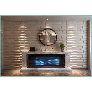 3D Plant Fiber Wall Panels Contemporary Michael Design (Set of 10)