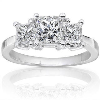 Annello 14k Gold 1 1/2ct TDW Diamond 3-stone Ring (H-I, SI1-SI2)