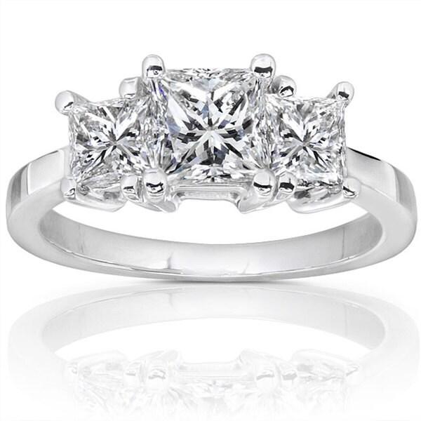 Annello 14k Gold 1 1/2ct TDW Diamond 3-stone Ring (H-I, SI1-SI2)