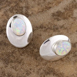 Handcrafted Brilliant Opal Pierced Earrings (India)