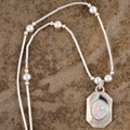 Handcrafted Luminous White Opal Pendant (India)
