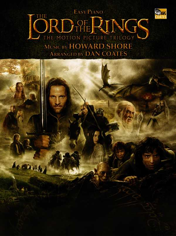 The Lord Of The Rings Easy Piano: The Motion Picture Trilogy (Paperback)