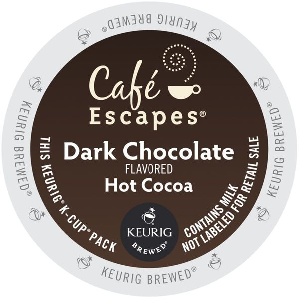 Cafe Escapes Dark Chocolate Hot Cocoa Keurig K-Cups 96 Count 32932117