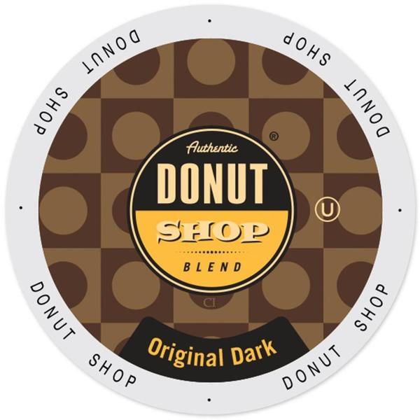 Authentic Donut Shop Original Dark, Single Serve Cups for Keurig Brewers 96 Count 32932390