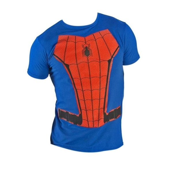 Spiderman Suit Up Charcoal Costume Tee Shirt 32938792