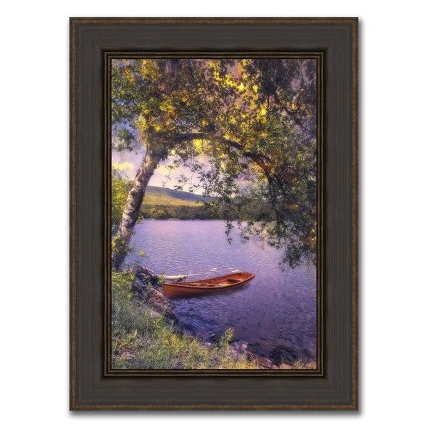 """Romantic Skiff "" Framed Photograph Print in Acrylic Finish 32939308"