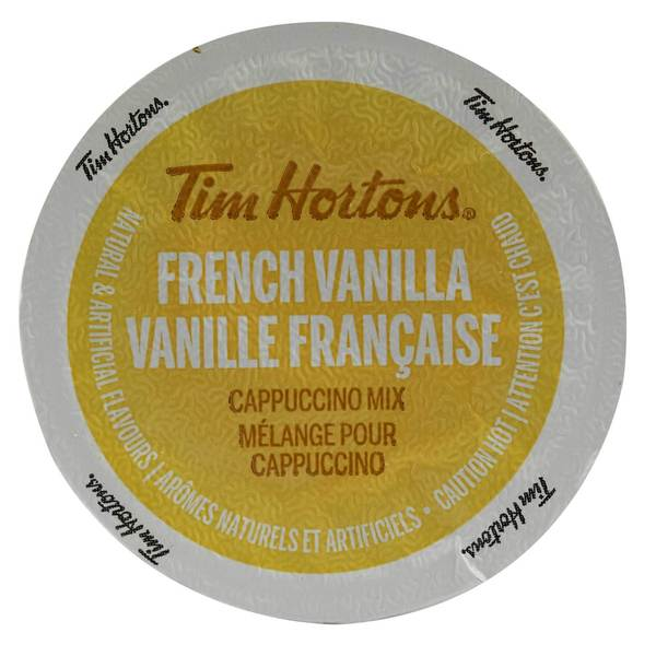 Tim Hortons French Vanilla Cappuccino With Sweet and Creamy Coffee Flavors, Single Serve Cups for Keurig Brewers 8 Count 32965095