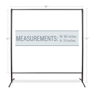 """InStyleDesign Multi-Purpose Portable Rod Stand 74"""" tall, 80"""" wide - 74' x 80'"""