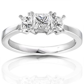 Annello 14k Gold 3/4ct TDW Diamond 3-stone Engagement Ring (H-I, I1-I2)