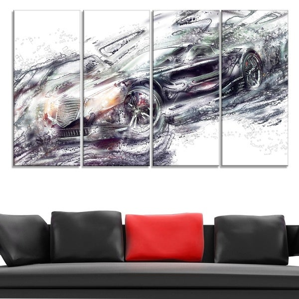 Abstract Black Super Car Large Gallery Wrapped Canvas 32980101
