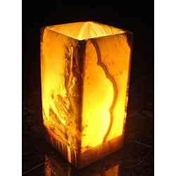 Small Rectangular Alabaster Lamp (Egypt)