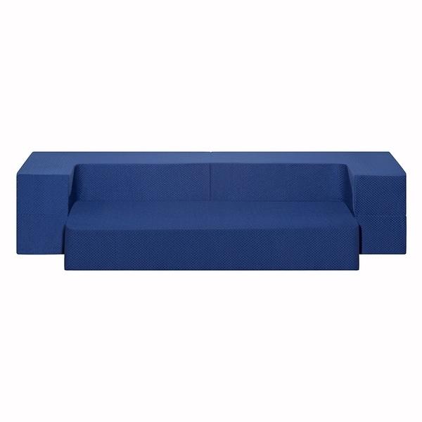 Sleeplanner 8-inch I Gel Memory Foam Foam Mattress Guest bed/ Floor Sofa, Dark blue 33032622