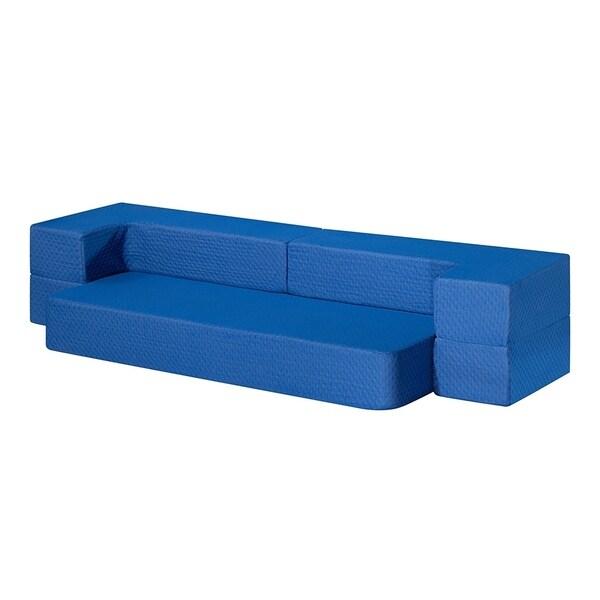 Sleeplanner 8-inch I Gel Memory Foam Mattress Guest bed/ Floor Sofa, Blue 33032624