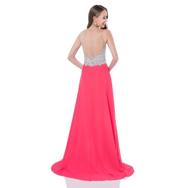 A-line Prom Gown with crystal bodice 33071193