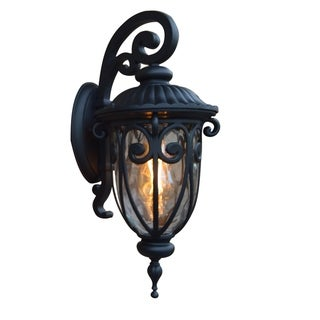 Hailee 1 Light Exterior Lighting in Matte Black Finish