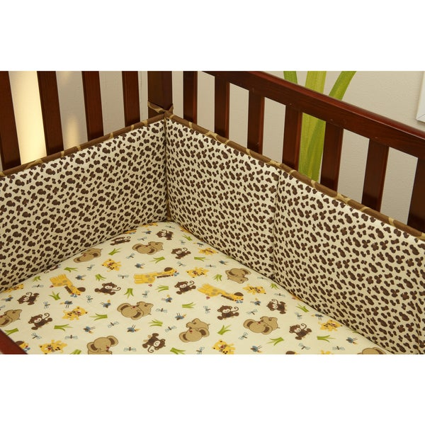 Little Bedding Jungle Dreams Traditional 4-sided bumper 33091211