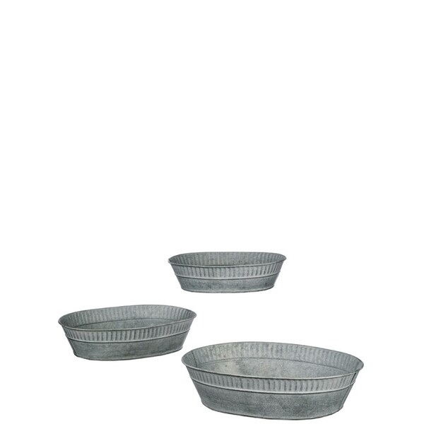 Rib Rim Metal Tray Decor 33091581