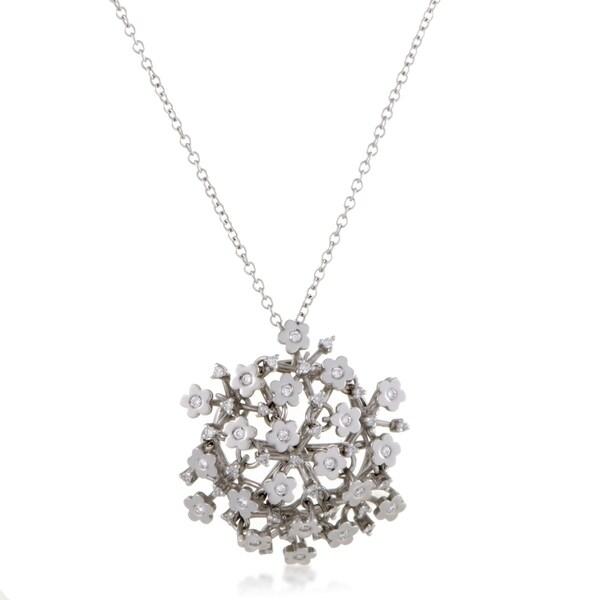 Pasquale Bruni Prato Fiorito Womens White Gold Diamond Pendant Necklace 33093602