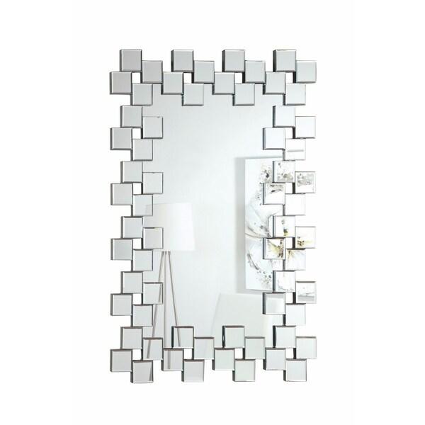 Elegantly Charmed Frameless Accent Mirror, Silver 33110005