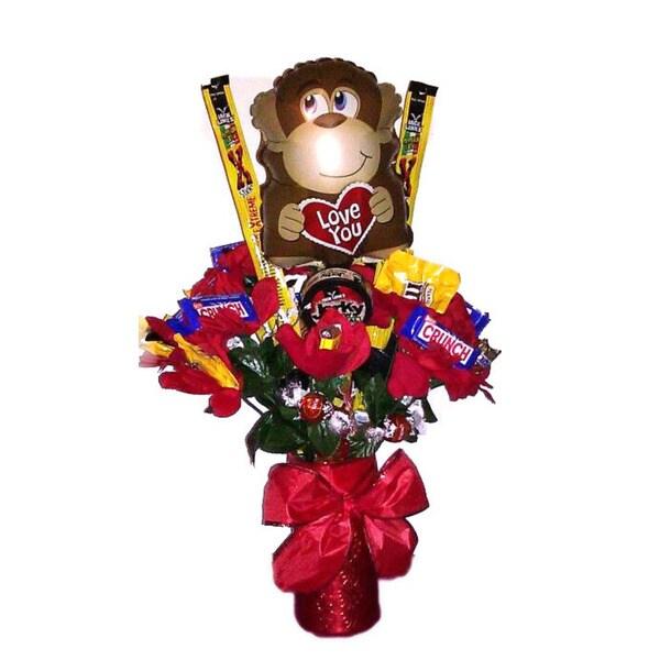 Monkey Love Valentine Candy Bouquet