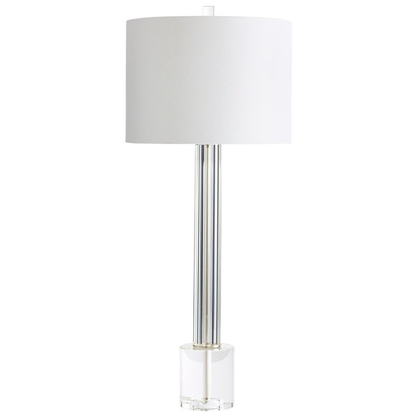 Cyan Design Quantom Clear/White Glass/Linen Table Lamp 33129465