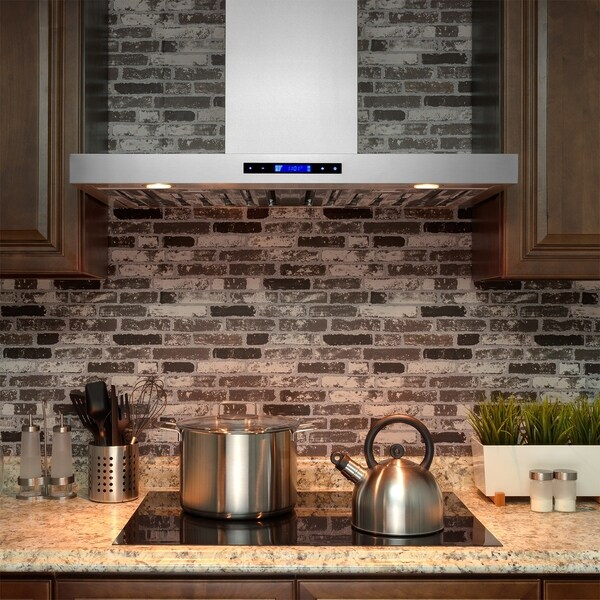 AKDY RH0241 30 in. Kitchen Wall Mount Range Hood in Stainless Steel with Remote, Touch Control and Carbon Filter 33132732
