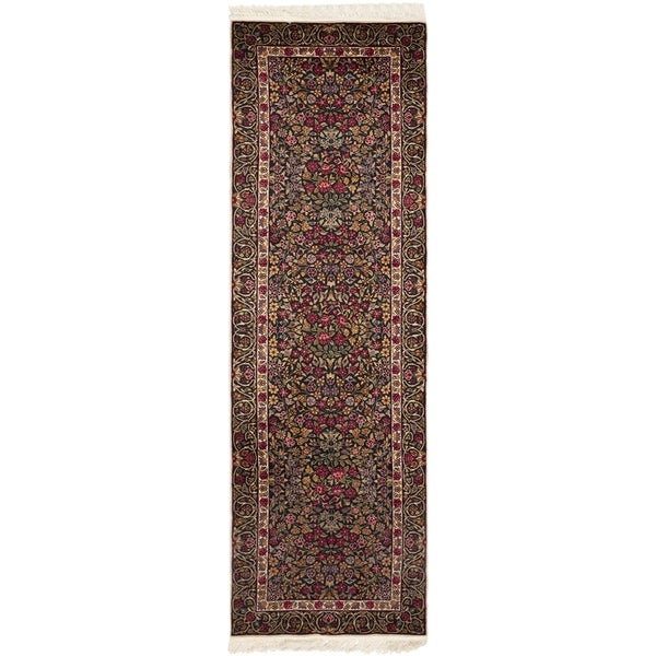 Safavieh Couture Hand-Knotted Royal Kerman Traditional Multi Wool Rug - 2'6' x 10' 33133982