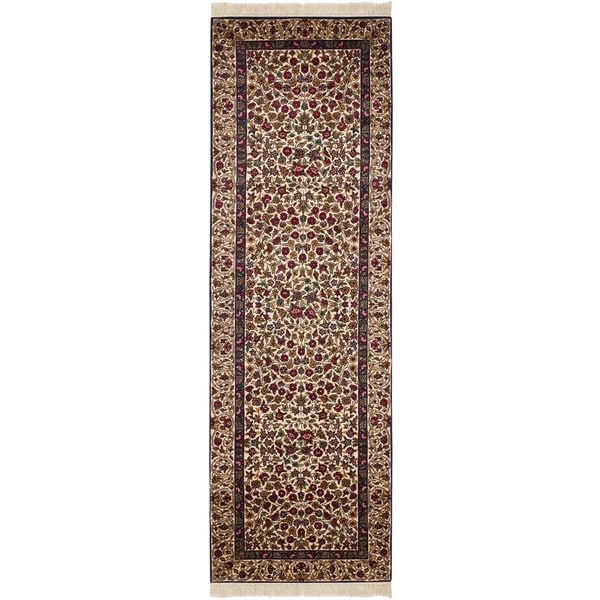 Safavieh Couture Hand-Knotted Royal Kerman Traditional Multi Wool Rug (2'6' x 14') 33134041