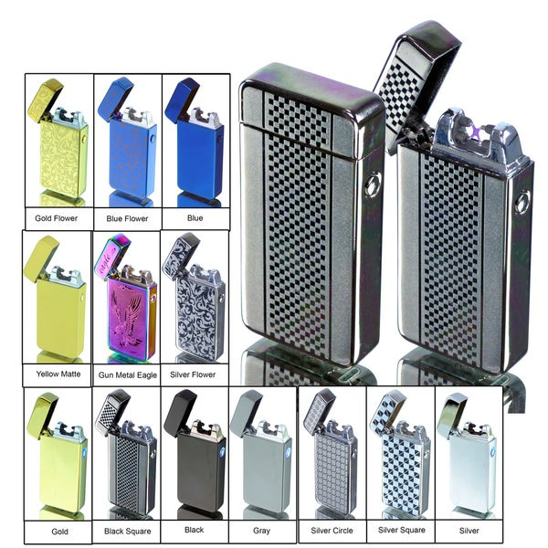Tac Plasma Lighter - USB Rechargable, Electric Windproof Splashproof Flameless Lighter, Butane Free Tactical Dual Arch 33136158