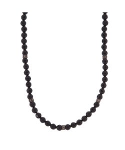 Glitzy Rocks Sterling Silver Marcasite Faceted Black Onyx Beads Necklace
