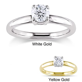 Miadora 14k Gold 1/2ct TDW Certified Diamond Solitaire Engagement Ring (G-H, I1-I2)