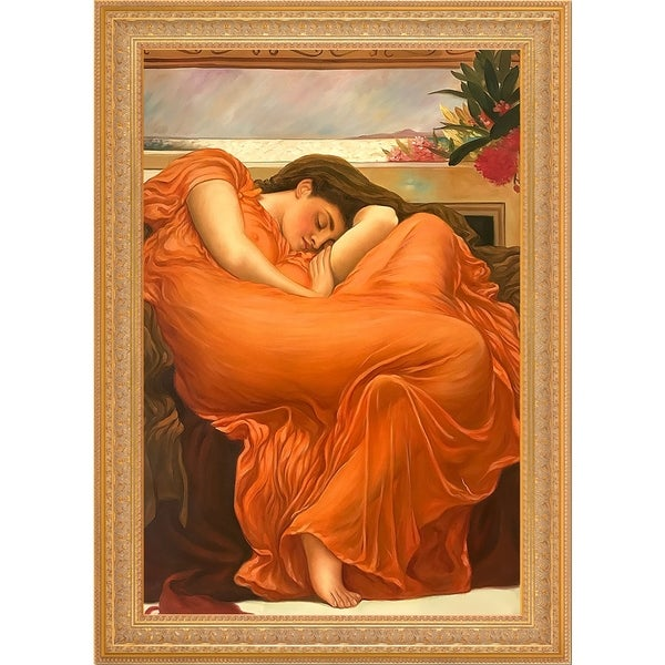 Frederic Leighton 'Flaming June' Hand Painted Oil Reproduction 33211648