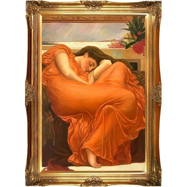 Frederic Leighton 'Flaming June' Hand Painted Oil Reproduction 33211649