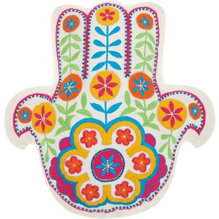 Mina Victory Trendy, Hip, & New Age Hamsa Throw Pillow by Nourison (15-Inch X 15-Inch)