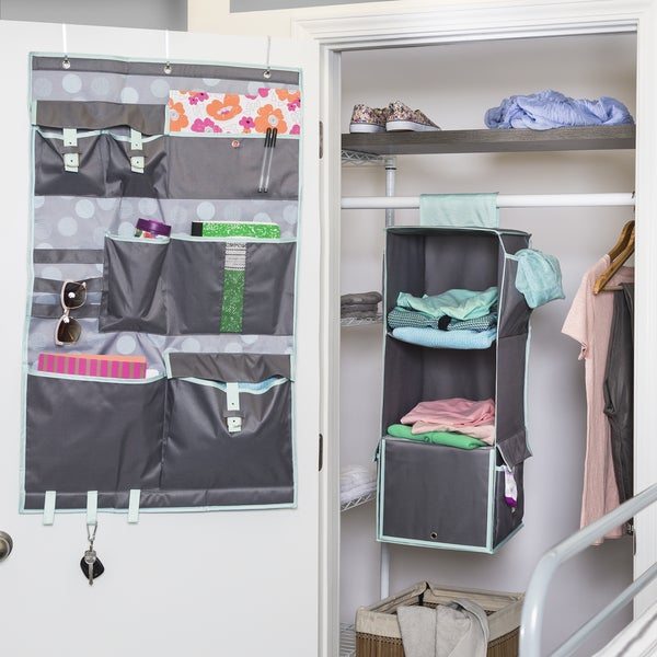 Honey Can Do Closet Organizer Kit - Mint